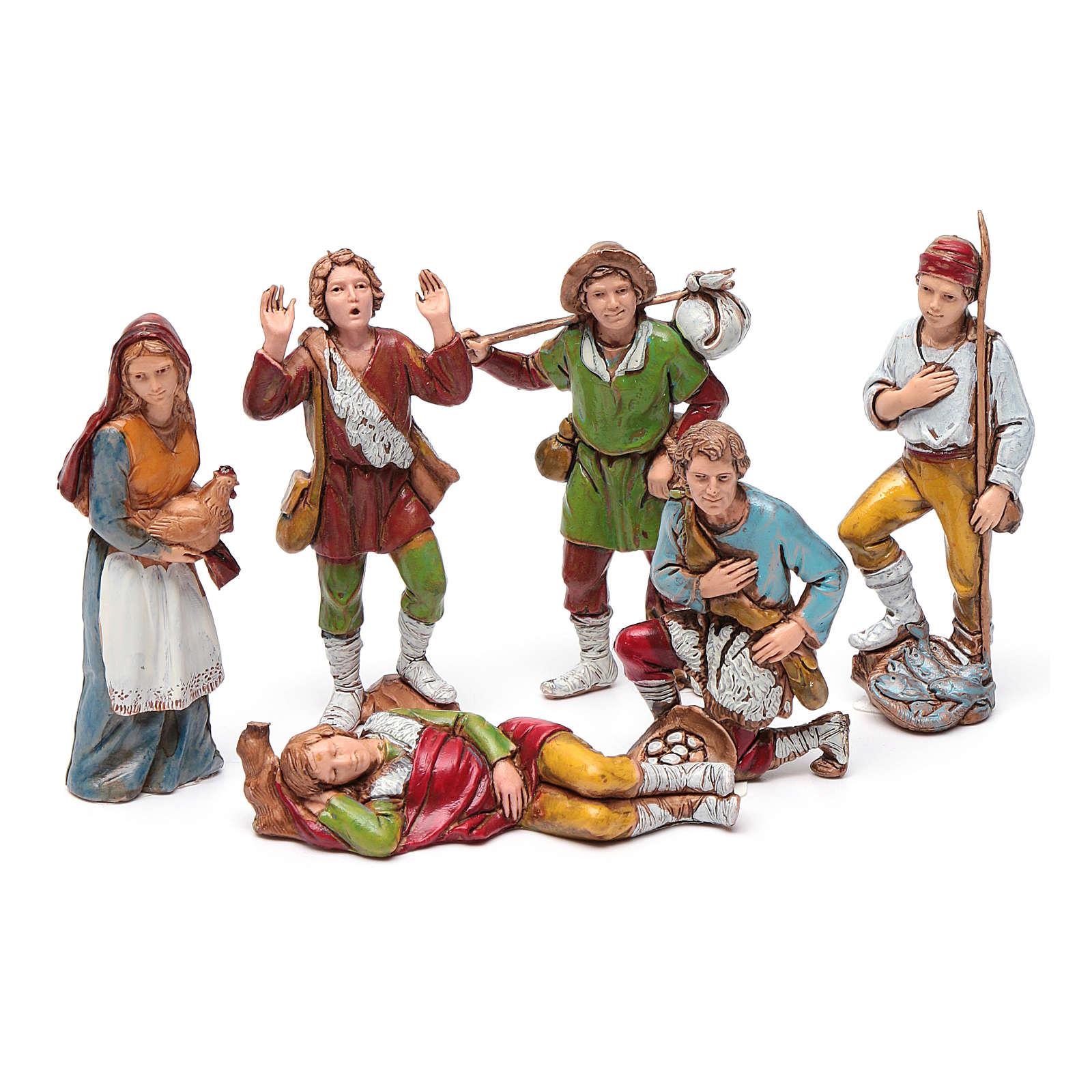 Grupo de pastores 8 cm Moranduzzo 6 figuras 4