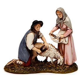 Card plaryers and sheep shearer figurines 8cm, Moranduzzo s3