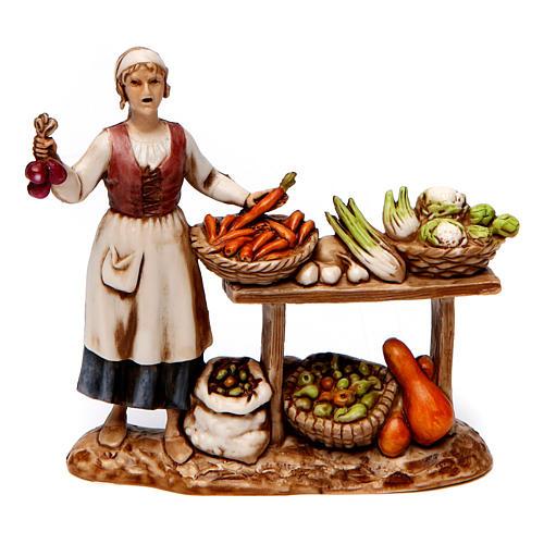 Grupo de vendedora de verduras y esquiladores 8 cm Moranduzzo 2 figuras 2