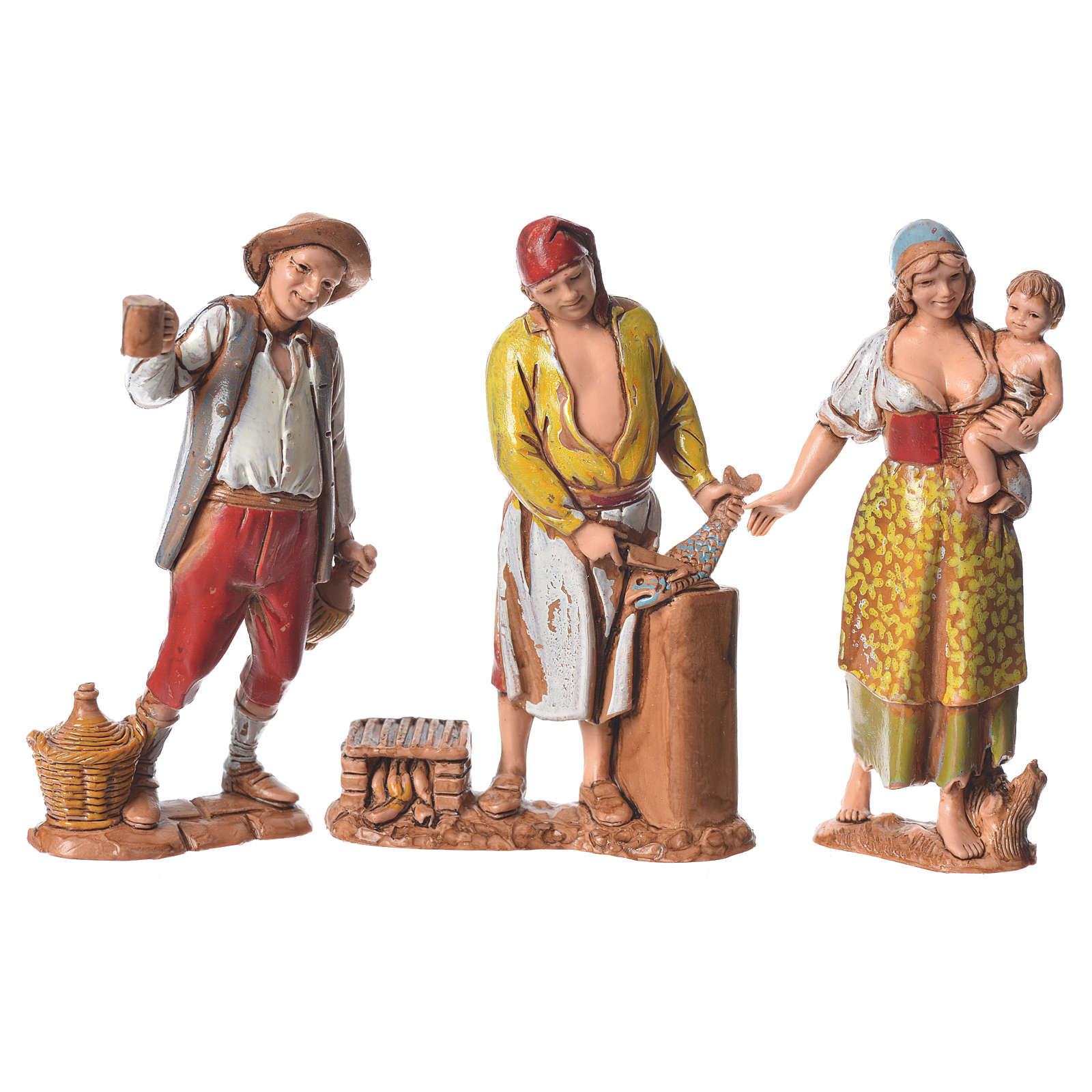 Pastores napolitanos 8 cm Moranduzzo 3 figuras 4