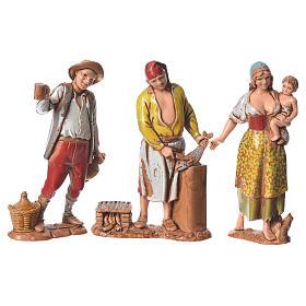 Belén Moranduzzo: Pastores napolitanos 8 cm Moranduzzo 3 figuras