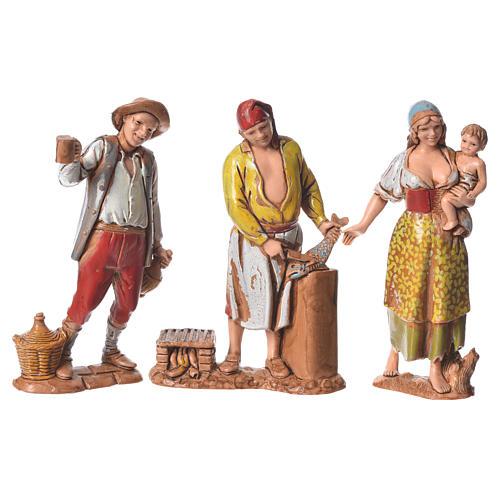 Pastores napolitanos 8 cm Moranduzzo 3 figuras 1