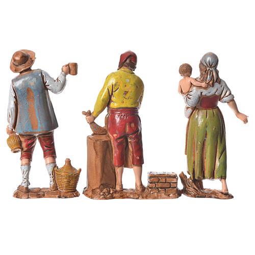 Pastores napolitanos 8 cm Moranduzzo 3 figuras 2