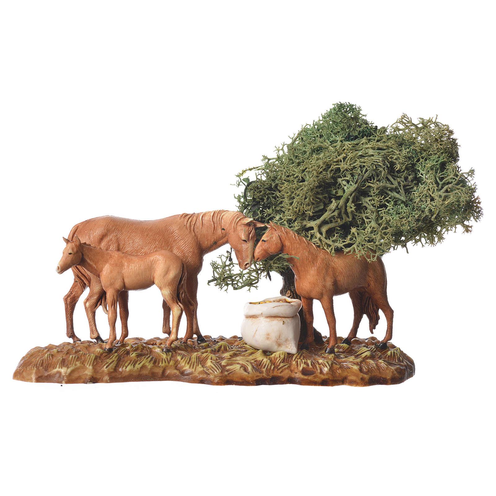 Group of animals and setting, 3pcs 8cm Moranduzzo 4