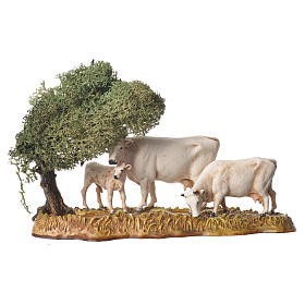 Group of animals and setting, 3pcs 8cm Moranduzzo s2