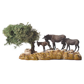 Group of animals and setting, 3pcs 8cm Moranduzzo s4