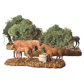Grupo de animales y ambientación natural 3 figuras 8 cm s1