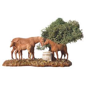 Grupo de animales y ambientación natural 3 figuras 8 cm s3