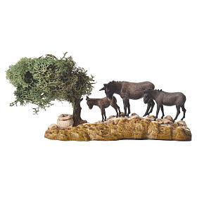 Grupo de animales y ambientación natural 3 figuras 8 cm s4