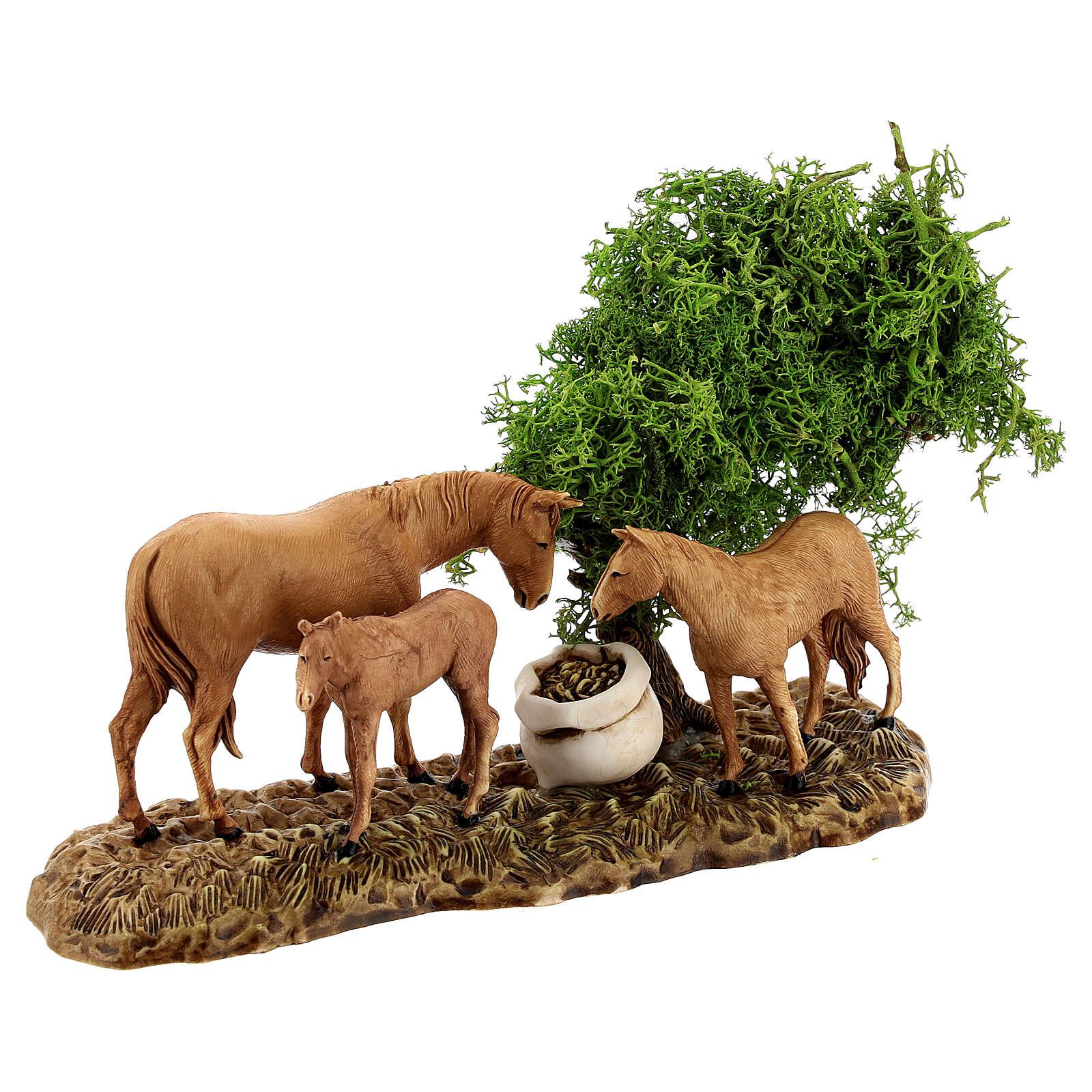 Groupe animaux et décor 3 pcs 8 cm Moranduzzo 4