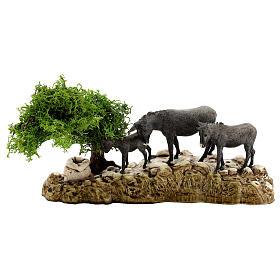 Groupe animaux et décor 3 pcs 8 cm Moranduzzo s4