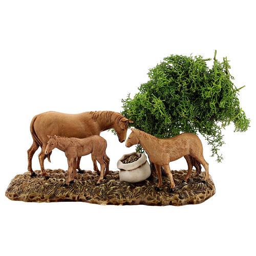 Groupe animaux et décor 3 pcs 8 cm Moranduzzo 3