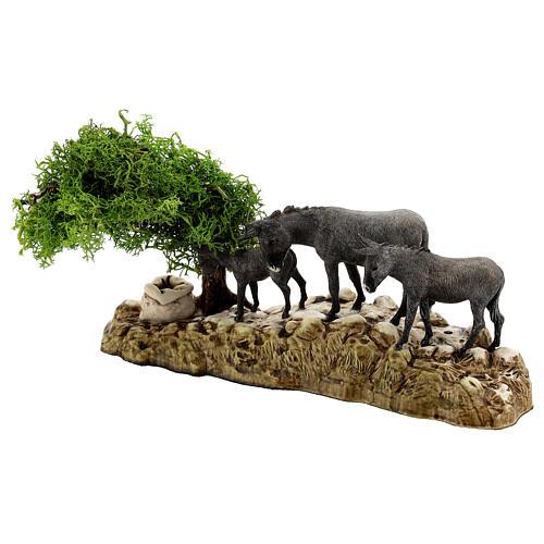Groupe animaux et décor 3 pcs 8 cm Moranduzzo 5
