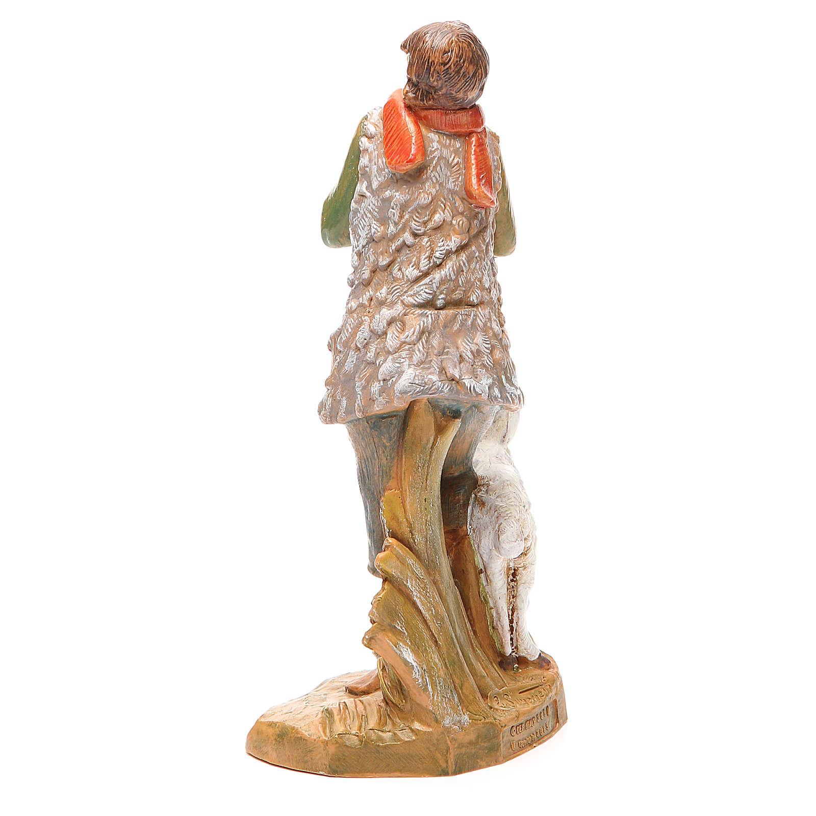 Pastore con pecora per presepe 19 cm Fontanini 3
