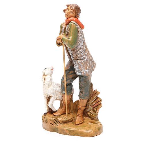 Pastore con pecora per presepe 19 cm Fontanini 2