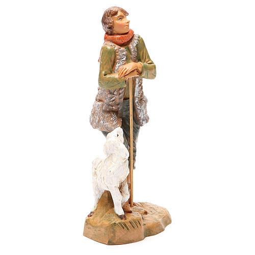 Pastore con pecora per presepe 19 cm Fontanini 4