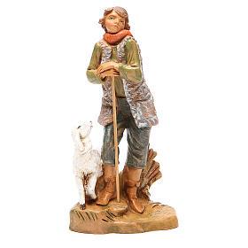 Figuras de Presépio: Pastor com ovelha para presépio 19 cm Fontanini