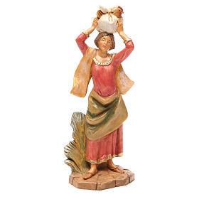 Statue per presepi: Donna con gallina 19 cm presepe Fontanini