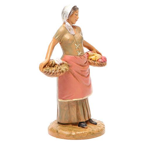 Femme panier fruits 12 cm crèche Fontanini 4