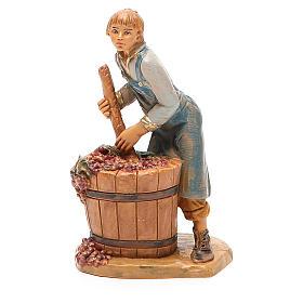 Paysan qui écrase le raisin 12 cm crèche Fontanini s2
