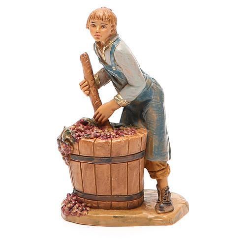 Paysan qui écrase le raisin 12 cm crèche Fontanini 2