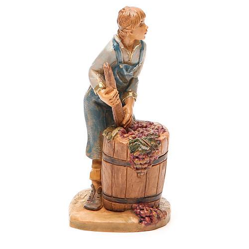 Paysan qui écrase le raisin 12 cm crèche Fontanini 4