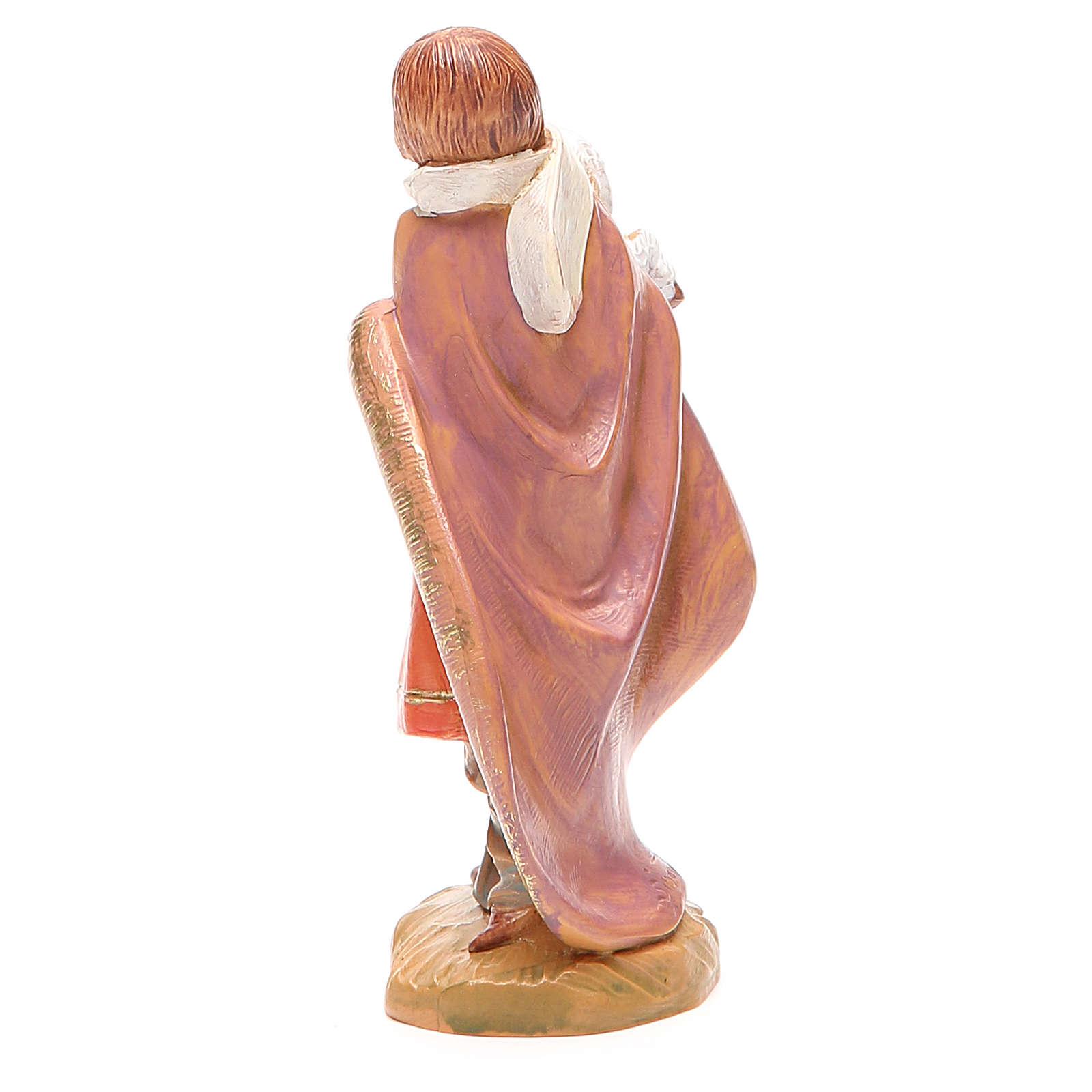 Pastor con oveja en brazo 12 cm Fontanini 4