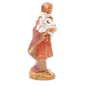 Pastor con oveja en brazo 12 cm Fontanini s4