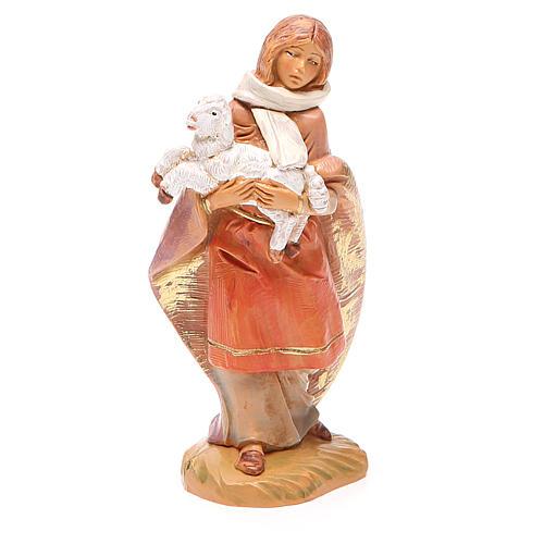 Pastorello pecora in braccio 12 cm Fontanini 1