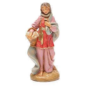 Figuras del Belén: Claudia Pastora cesta belén 12 cm Fontanini