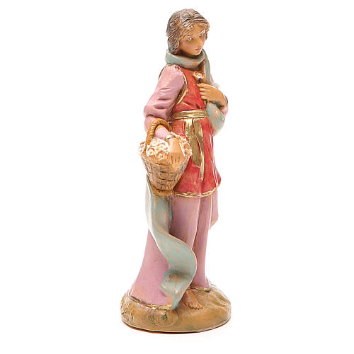 Claudia pastorella cesto presepe 12 cm Fontanini 4