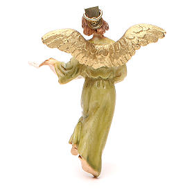 Anjo Glória resina pintada 12 cm Linha barata Landi s2