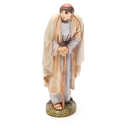 St Joseph en résine peinte 16 cm gamme Martino Landi 1