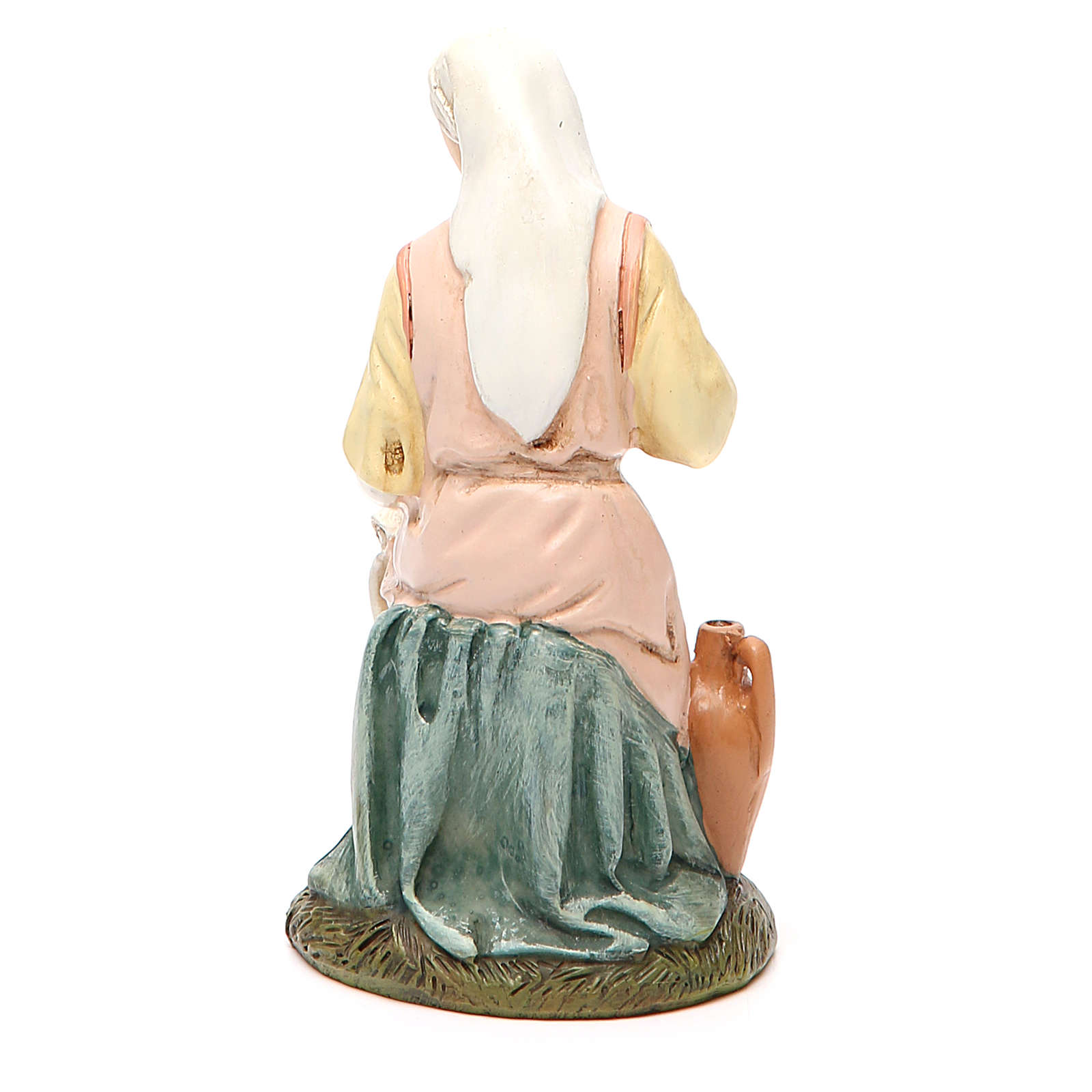 Our Lady in painted resin 16cm affordable Landi Collection 3