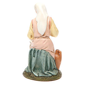 Our Lady in painted resin 16cm affordable Landi Collection s2