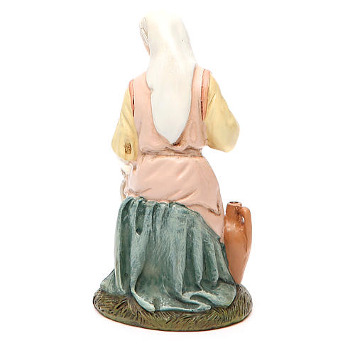 Our Lady in painted resin 16cm affordable Landi Collection 2