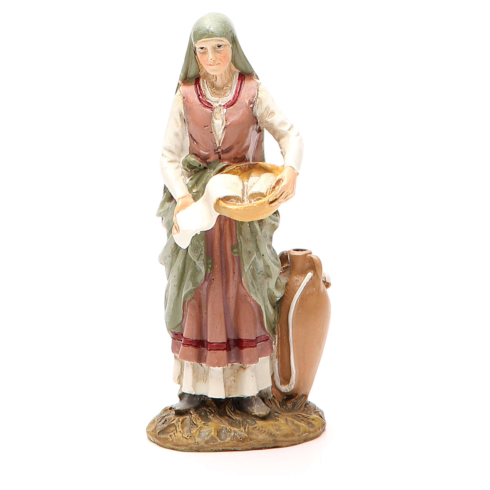 Midwife in painted resin 12cm affordable Landi Collection 3