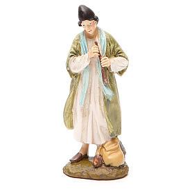 Figuras de Presépio: Pastor com flauta resina pindata 12 cm Linha Martino Landi