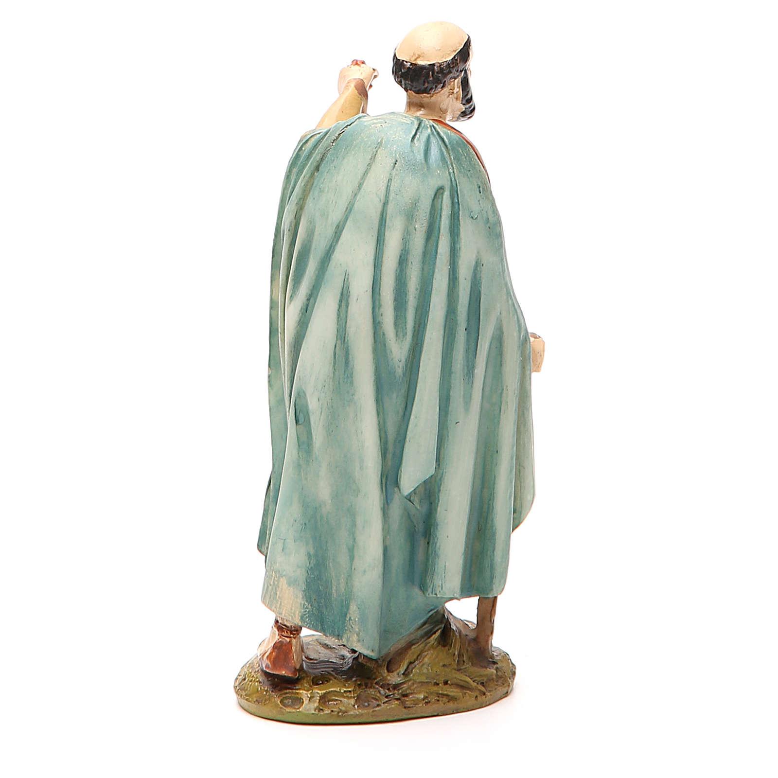 Pastor con farol resina pintada 12 cm Linea barata Landi 3