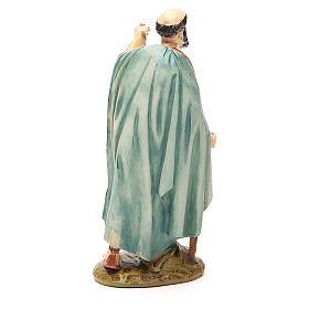Pastor con farol resina pintada 12 cm Linea barata Landi s2