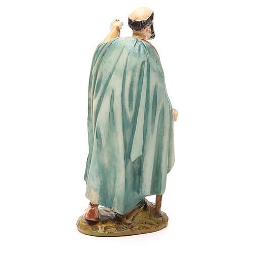 Pastor con farol resina pintada 12 cm Linea barata Landi 2