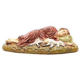 Nativity Scene figurines: Sleeping shepherd in painted resin 12cm affordable Landi Collection