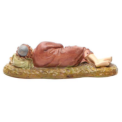 Pasterz śpiący żywica malowana 12cm Landi 2