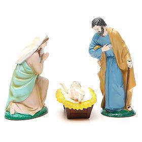 Figuras del Belén: Natividad 3 pz colorado 10 cm