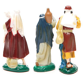 Group of 3 shepherds in painted PVC 10cm s2