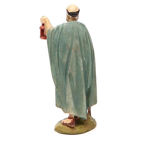 Shepherd with lantern in painted resin 10cm Landi Collection 2