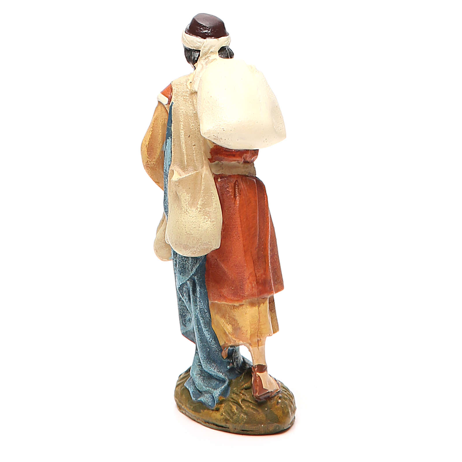 Pastor  viajero  resina pintada 10 cm linea Martino Landi 3