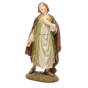 Nativity Scene figurines: Nativity scene statue amazed shepherd 10 cm Martino Landi brand