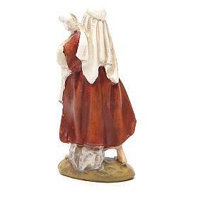 Berger avec mouton résine peinte 10 cm gamme M. Landi s2