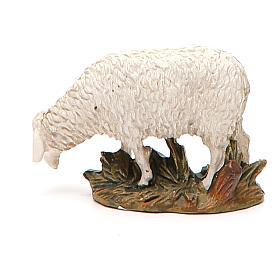 Mouton tête baissée résine peinte pour crèche 10 cm gamme M. Landi s2